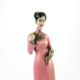 Dolls made ​​from ceramic female figure Stock Image