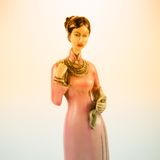 Dolls made from ceramic female figure Royalty Free Stock Photo