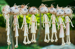 Dolls from maize husk. Royalty Free Stock Images