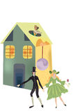 Dolls. Pretty illustration of dolls symbolize love story Royalty Free Stock Image