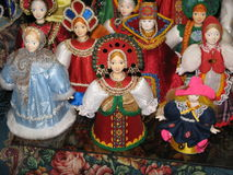 Dolls in Russia. The dolls of Russian folk costumes Stock Photography