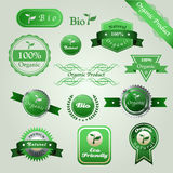 Bio labels. Set of badges. Premium quality, natural, eco friendly, 100% organic product, bio. Labels collection Vector Illustration