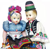 Dolls traditional costume souvenir vintage Royalty Free Stock Photos