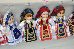 dolls in traditional costumes. Stock Photo