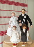 Dolls in traditional Hungarian costumes Royalty Free Stock Photo