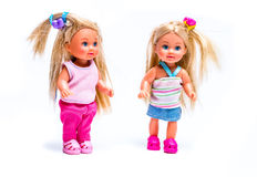 Dolls. Two dolls on white background stock images