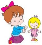 Dolly. Vector clip-art / children's illustration for yours design, postcard, album, cover, scrapbook, etc Stock Photo
