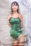 Dolly Body cubrió con celofán Fotos de archivo libres de regalías