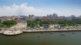 Dolly Establishing Shot ancha de Havana Cuba Coastline almacen de metraje de vídeo