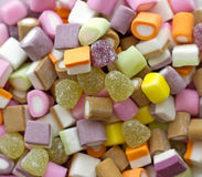 Dolly Mixture. A colourful pile of mixed candy (also known as Dolly Mixture Royalty Free Stock Image