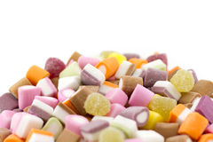 Dolly Mixture. A mountain of Dolly Mixture (Mixed Candies) - Shallow Depth of Field version Royalty Free Stock Images