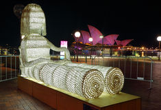 Dolly and the Opera House  Vivid Sydney 2015 Stock Images