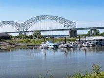 Dolly Parton Bridge i Memphis Tennessee arkivbilder