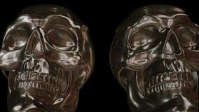Dolly Past Golden Skulls stock de ilustración