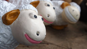 Dolly The Sheep Family. Smiling stock photo