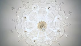 Dolly shot of a beautiful chandelier.  stock video footage
