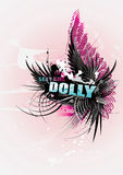 Dolly text illustration Royalty Free Stock Image