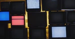 Dolly Tv wall 4k.  stock video