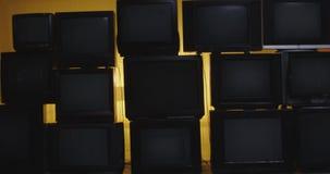Dolly Tv wall 4k. RnShoot at ARRI Alexa and anamorphic lense stock video