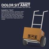 Dolly, wheelbarrow for transportation Royalty Free Stock Photo