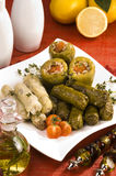 Dolma-Angefülltes Gemüse Stockfotografie