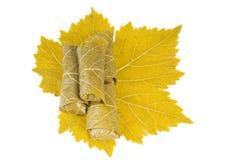 Dolma on grape leaf Stock Photo