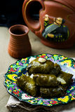Dolma from grape leaves. Royalty Free Stock Image