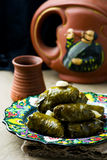 Dolma from grape leaves. Stock Image