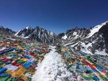 Dolma Lapasserande - montering Kailash Kora i vår i Tibet i Kina royaltyfri foto