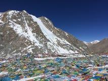 Dolma Lapasserande - montering Kailash Kora i vår i Tibet i Kina royaltyfri bild