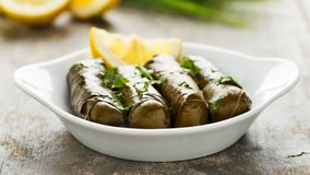 Dolma with lemon and herbs Stock Images