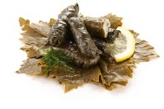 Dolma, stuffed grape leaves Royalty Free Stock Image