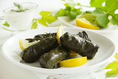 Dolma, stuffed grape leaves, Stock Photography