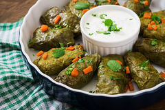 Dolma stuffed with rice and meat Royalty Free Stock Images