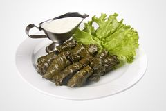 Dolma on a white plate royalty free stock photography