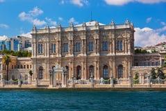 dolmabahce伊斯坦布尔宫殿火鸡 图库摄影