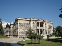 dolmabahce伊斯坦布尔宫殿 免版税库存图片