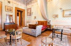 Dolmabahce宫殿的穆斯塔法凯末尔阿塔图尔克的卧室 库存照片