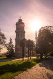 从Dolmabahce宫殿,伊斯坦布尔的尖沙咀钟楼 图库摄影