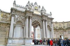 dolmabahce bramy pałac Zdjęcie Royalty Free