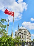 The Dolmabahce Camii Mosque. Besiktas district, Istanbul, Turkey stock images