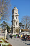 Dolmabahce Clock Tower in Istanbul, Turkey Stock Photography