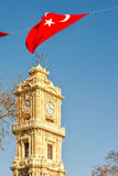 Dolmabahce clock tower, Istanbul, Turkey Royalty Free Stock Photography