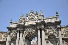 Dolmabahce. Entrance gates from Dolmabahce Imperial residence in Istanbul, Turkey stock photography