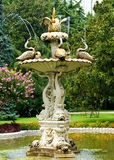 Dolmabahce fountain. Dolmache palace's fountain and beautiful garden Royalty Free Stock Photos