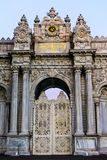 Dolmabahce front door in Istanbul. Dolmabahce palace front door in Besiktas part of  Istanbul Stock Photos