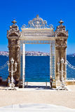 Dolmabahce gate royalty free stock photography