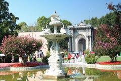 Dolmabahce - le palais des sultans de tabouret Images stock