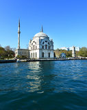 Dolmabahce mosque at the coast of Bosphorus in Istanbul, Turkey Stock Photos