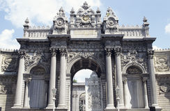 Dolmabahce palace. Main entrance of Dolmabahce palace in Istanbul, Turkey stock images